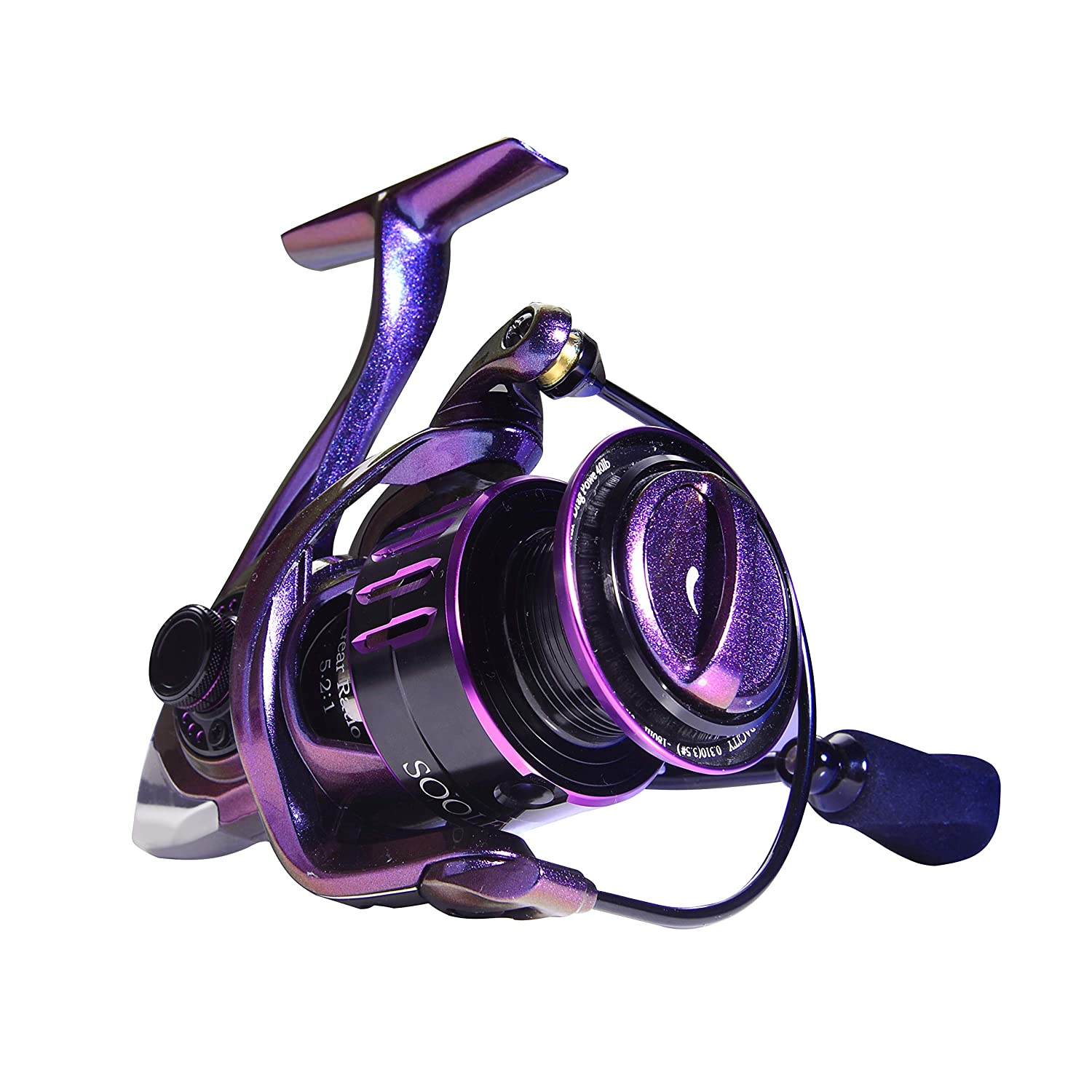 SOOLF Spinning Fishing Reel – 9 1 Stainless Steel Shielded BB for Freshwater or Saltwater, 5.2 1 Gear Ratio
