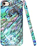 """Iphone 8 Case, Iphone 7 Case, A-Focus Frosted Full Print Slim Green Marble Shell Pattern Series Anti-Scratch Anti-Finger Soft Flexible TPU Cover Case for Iphone 7 / Iphone 8 4.7"""" - Matte Green 3"""