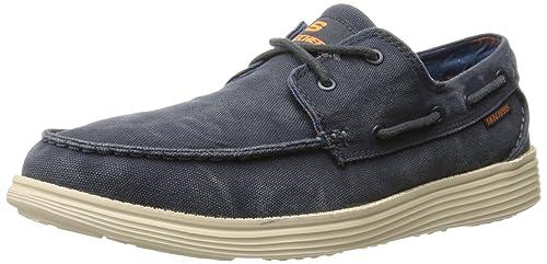 ea257e03250 Skechers USA Men s Status Melec Boat Shoe  Amazon.com.mx  Ropa ...