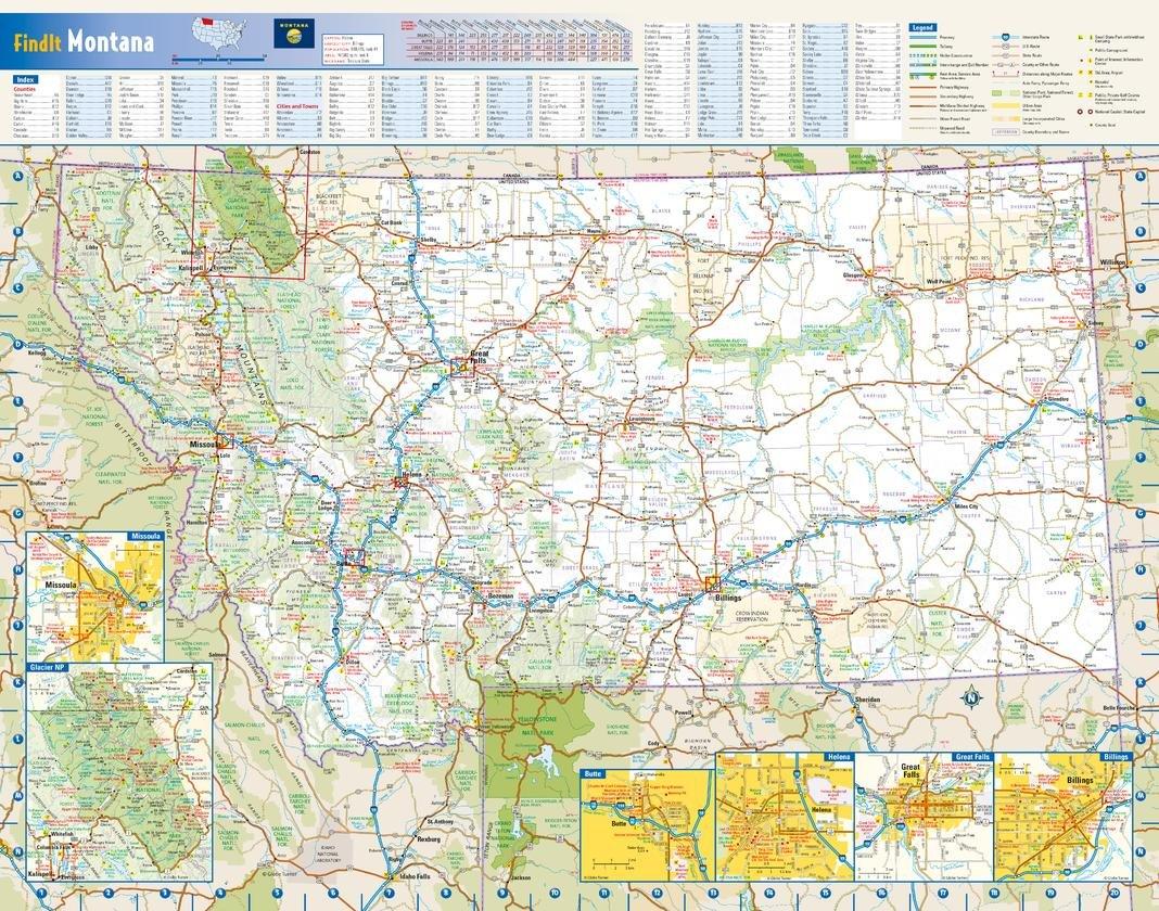 Amazon Com Montana State Wall Map 22 5 X 17 5 Laminated