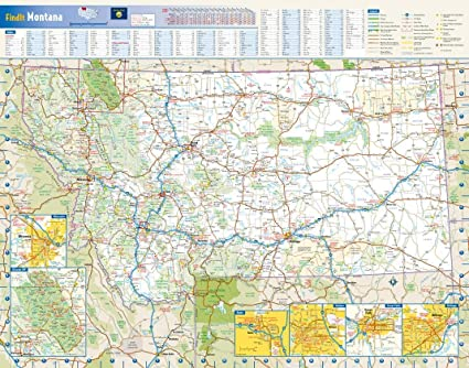 Amazon.com : Montana State Wall Map - 22.5\