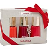 MAVALA Nail Polish Orange Red and Deep Red Colour Set, 3-Piece