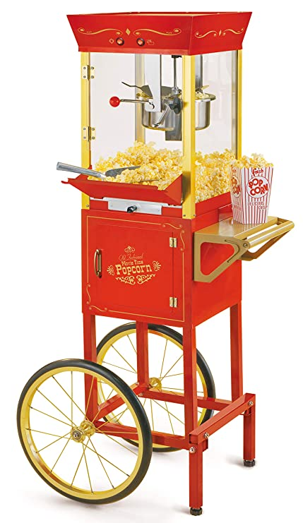 ca565ce097 Nostalgia CCP510 Vintage Professional Popcorn Cart-New 8-Ounce Kettle-53  Inches Tall