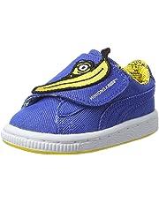 PUMA Infants Minions Basket Wrap Statement, Lapis Blue-Lapis Blue-Minion Yellow, Sneakers