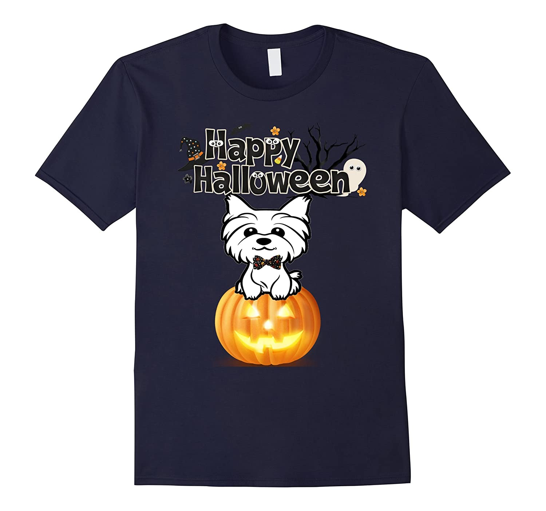 Happy Halloween Yorkshire Terrier Women Men Shirts Gift-TJ