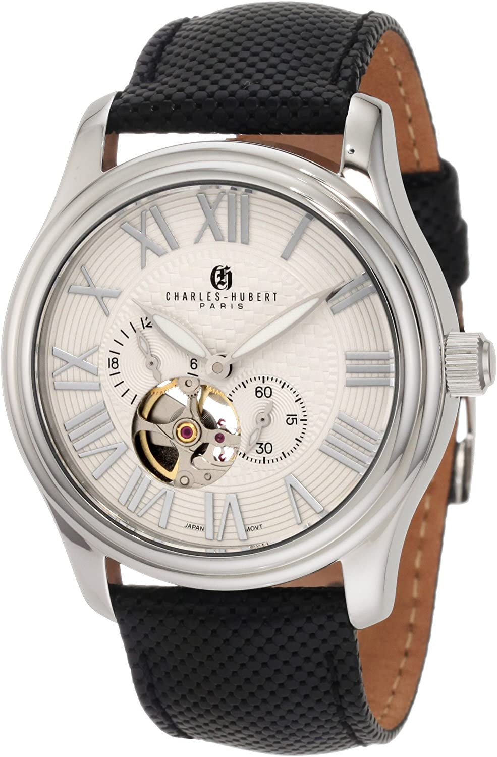 Charles-Hubert, Paris Men s 3894-W Premium Collection Stainless Steel Automatic Watch