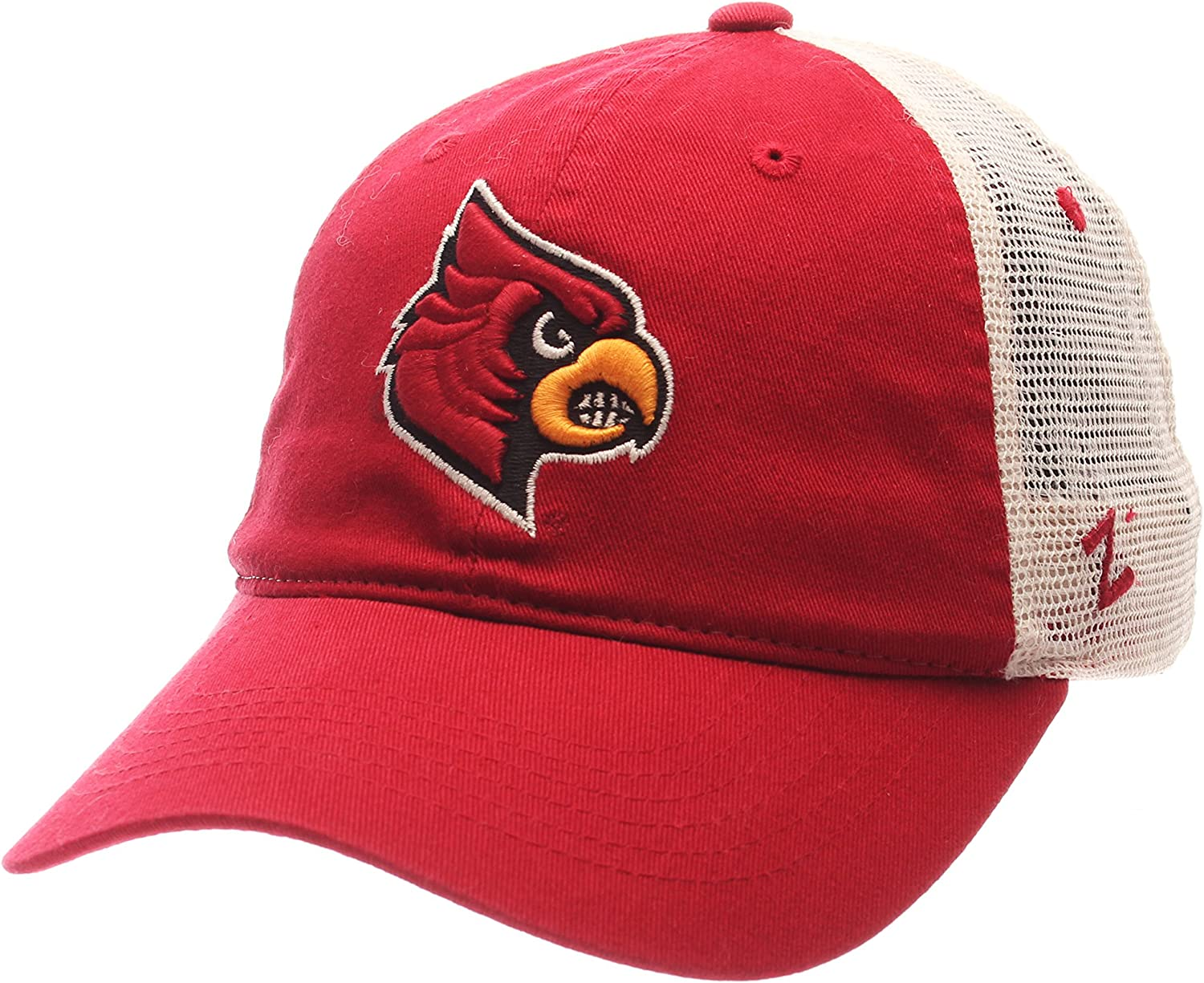NCAA Zephyr Louisville Cardinals Mens University Relaxed Hat Adjustable Team Color//Stone