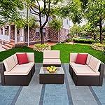 Devoko Patio Furniture Sets 6 Pieces Outdoor Sectional Rattan Sofa Manual