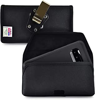 product image for Turtleback Belt Clip Case Designed for Galaxy S10+ Plus Fits with OB Defender, Black Nylon Holster Pouch with Heavy Duty Rotating Belt Clip, Horizontal Made in USA