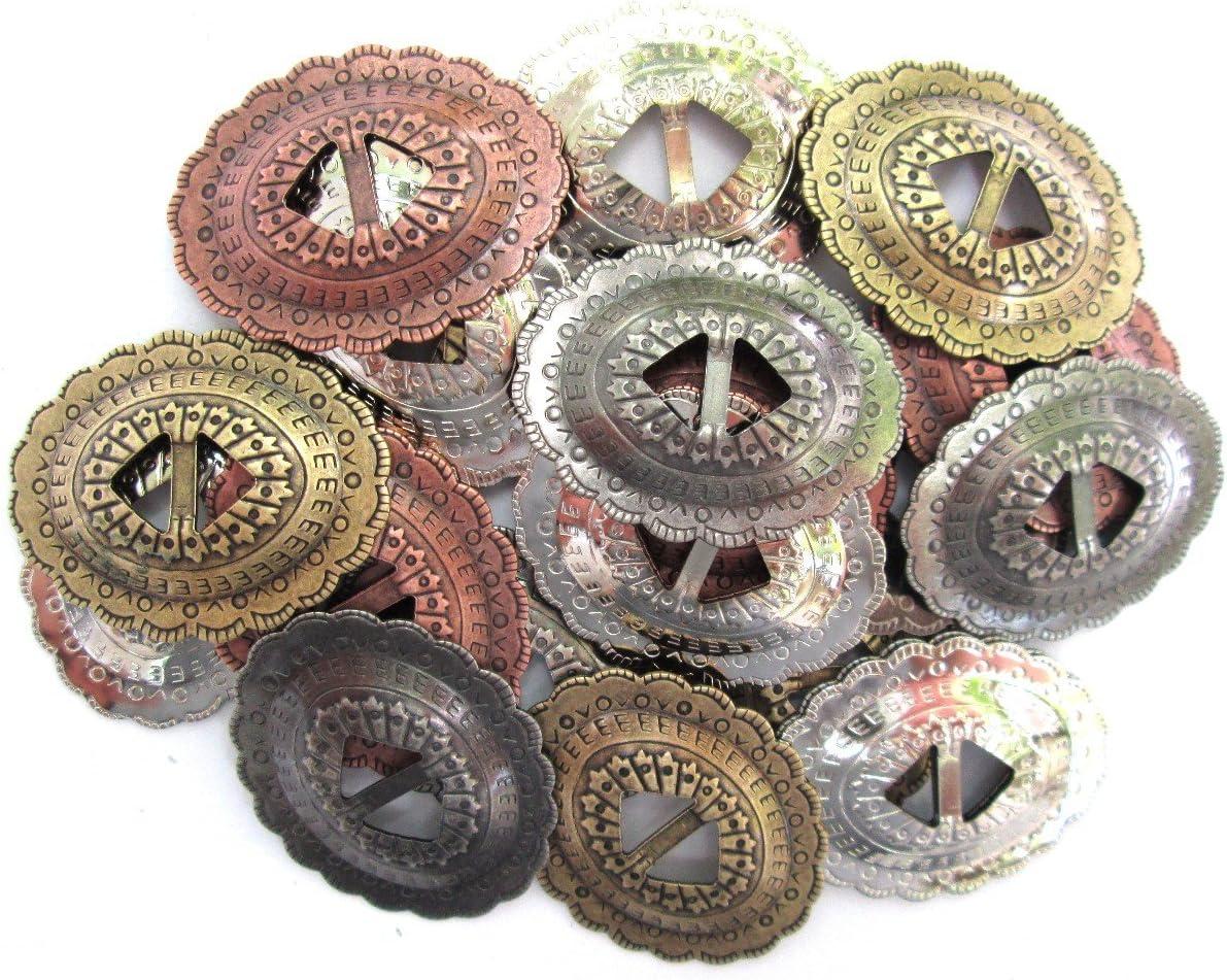 """Lot of 4 ~ ~ 1 1//4/"""" Antique Copper Berry Conchos"""