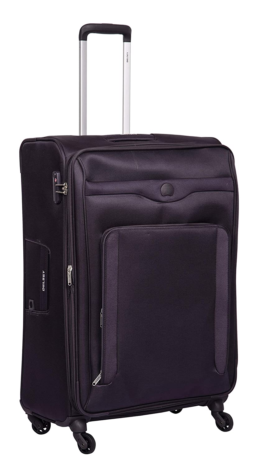 Delsey Baikal Polyester 78 Cm 4 Wheels Anthracite Large Soft Suitcase