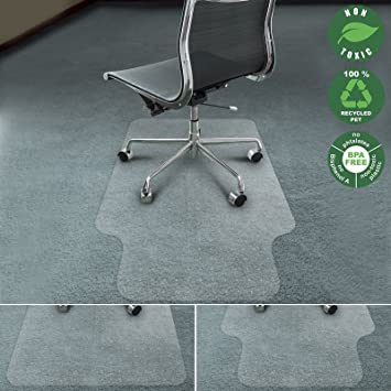 office marshal chair mat for carpet with lip ecofriendly series chair floor protector