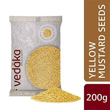 Amazon Brand - Vedaka Yellow Mustard Seeds, 200g