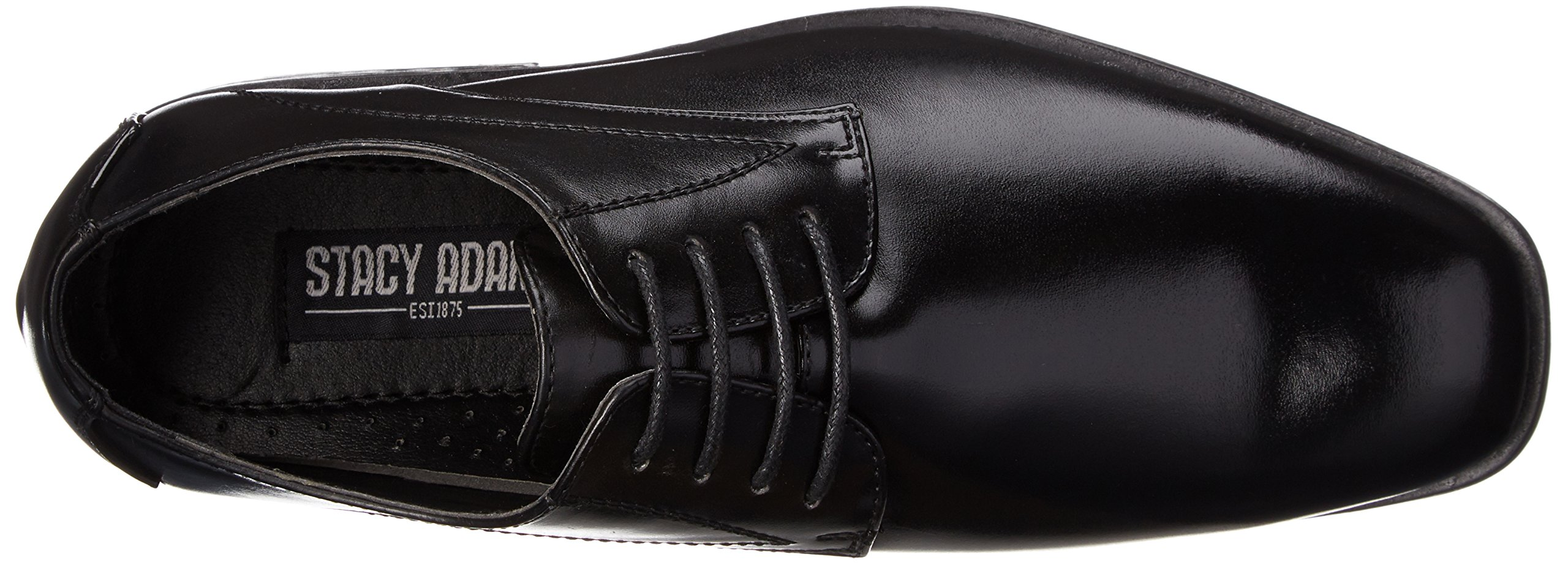 Stacy Adams Carmichael Plain Toe Lace-up Uniform Oxford Dress Shoe (Little Kid/Big Kid),Black,4 M US Big Kid by STACY ADAMS (Image #8)
