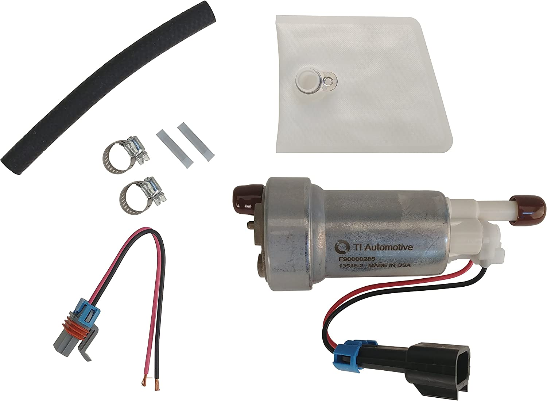 525LPH IN-TANK FUEL PUMP W//FITTING KIT Fuel NEW Walbro F90000285 470