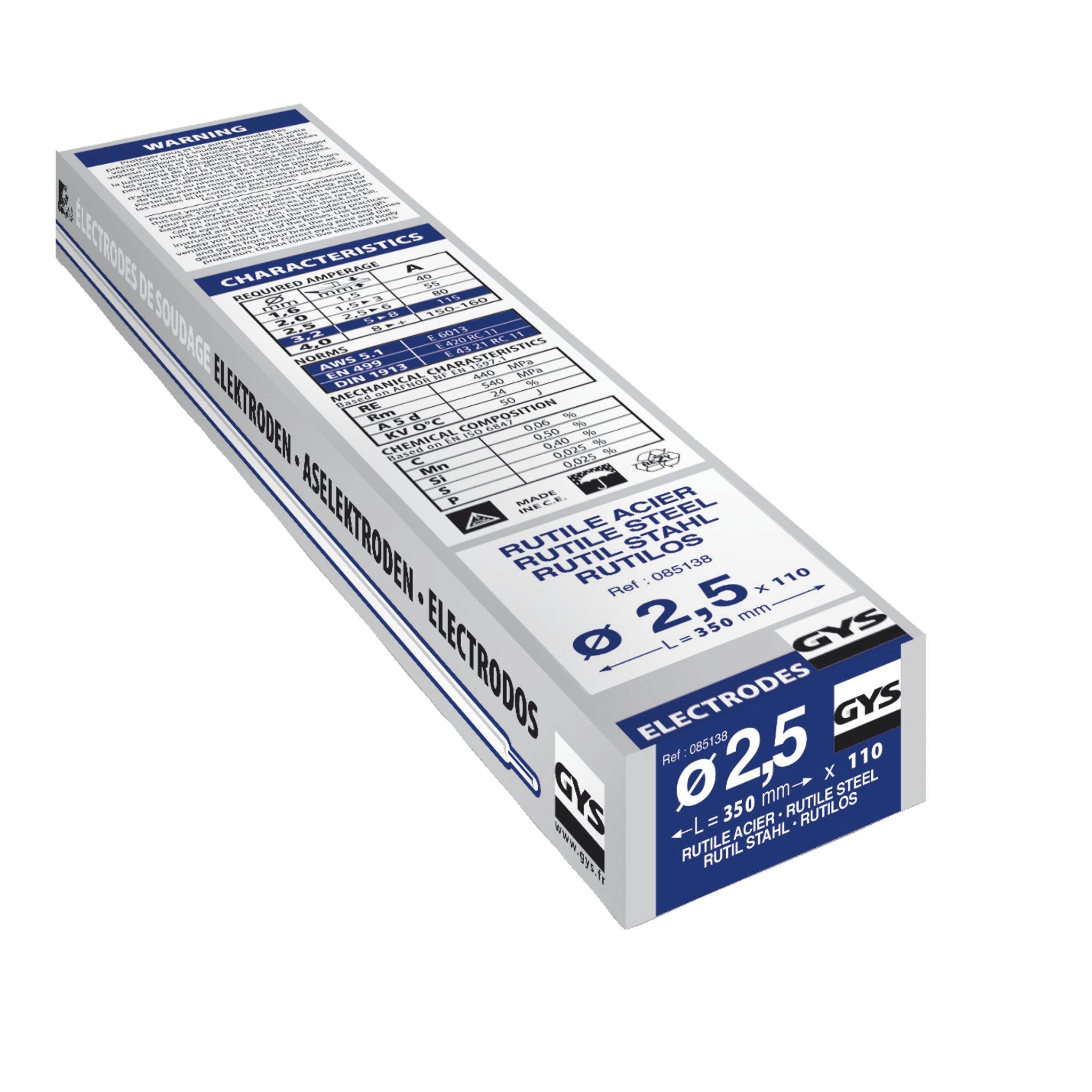Gys - Electrodos para soldadura (110 x 2,5 mm) product image