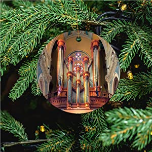 aosup Large Organ Pipes/Christmas Ornaments 2020 Christmas Ceramic Pendant Personalized Creative Christmas Decorations Double Sided Christmas Tree Ornament ?SW144215