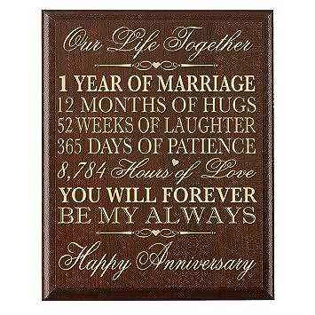 Amazon 1st wedding anniversary wall plaque gifts for couple 1st wedding anniversary wall plaque gifts for couple 1st anniversary gifts for her1st junglespirit Gallery