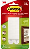 Command Picture Hanging Strips, Holds 16 lbs, Large, White (17206-ES)