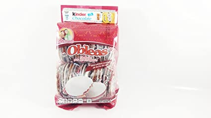 Mini obleas Milk Candy Wafers 20 pcs in Pack, Authentic Mexican Candy with Free Chocolate