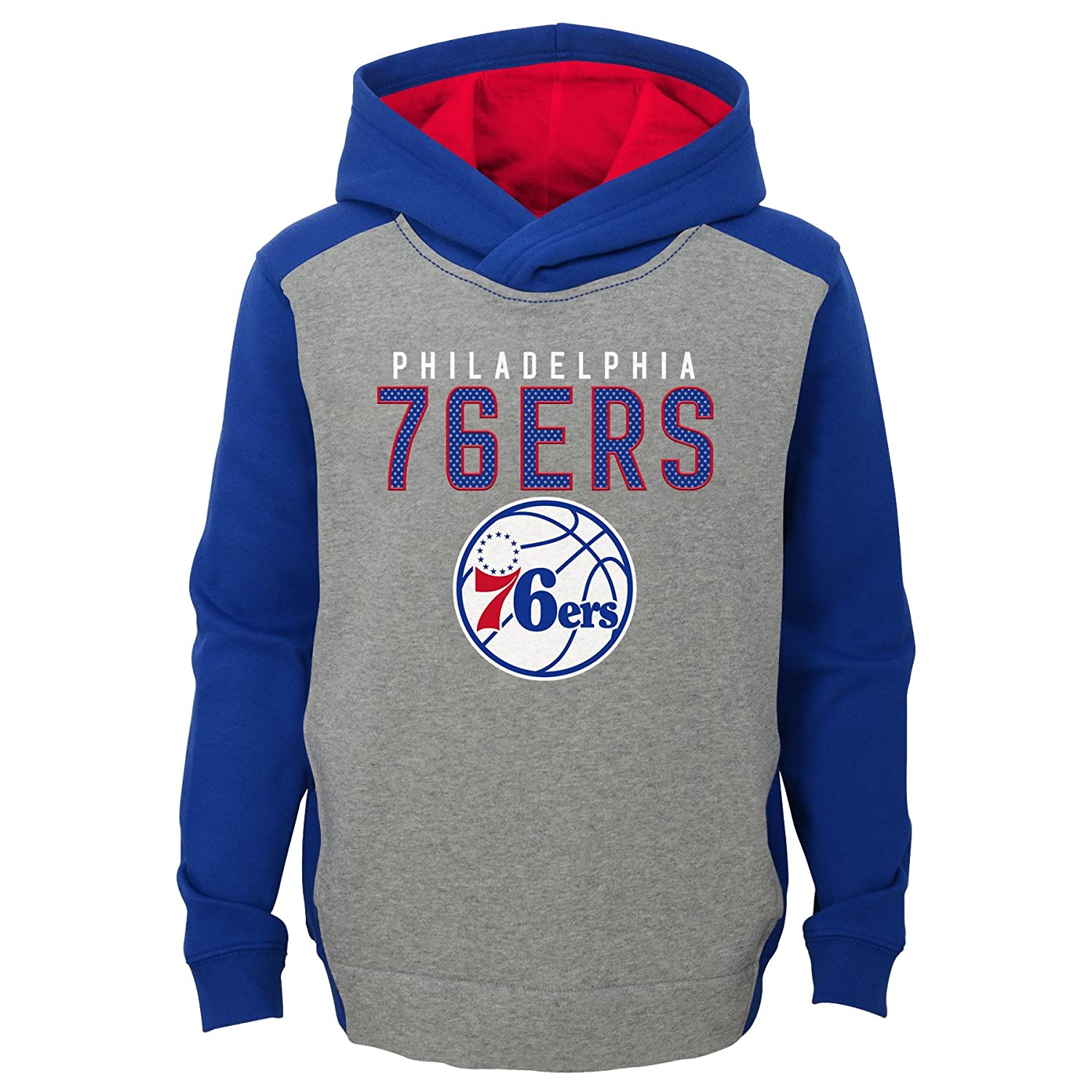 4 NBA Kids /& Youth Boys Fadeaway Pullover Hoodie Philadelphia 76ers-Grey Heather-S