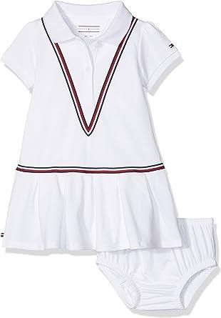 Tommy Hilfiger Sweet Polo Dress S/s Vestido, Blanco (Bright White ...