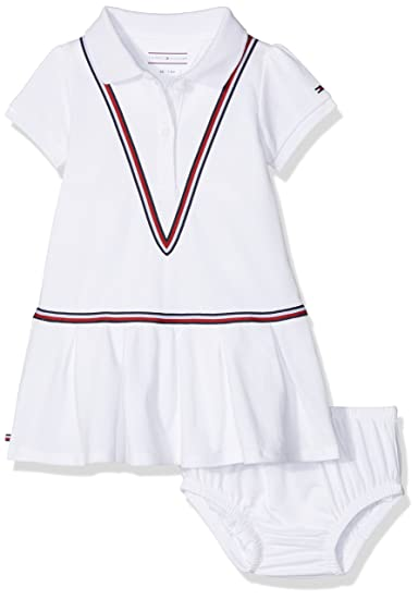 Tommy Hilfiger Baby Girls  Sweet Polo Dress S s Bright White 123 39f8081d4f71f