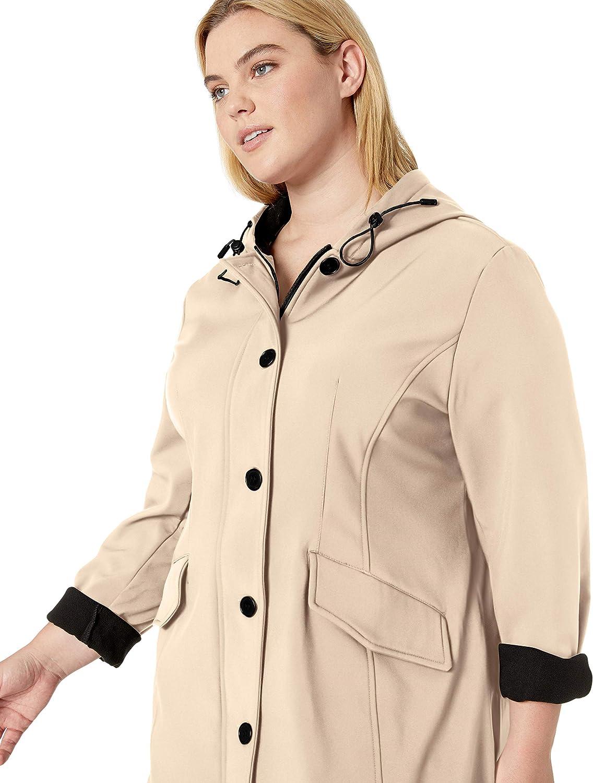 Big Chill womens Big Chill Womens Zipper Buttons Adjustable Hood Softshell Jacket Down Coat