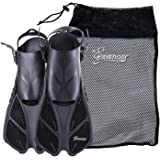 Seavenger Torpedo Swim Fins/Flippers with Gear Bag for Snorkeling & Diving, Perfect for Travel