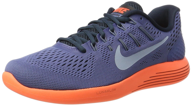 60b4949c92da Nike Men s Lunarglide 8 Grey-Orange Running Shoes (843725-408) (UK-9 (US-10))   Buy Online at Low Prices in India - Amazon.in