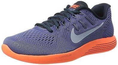 Nike Men s Lunarglide 8 Grey-Orange Running Shoes (843725-408) (UK-9 ... f7423e3e42