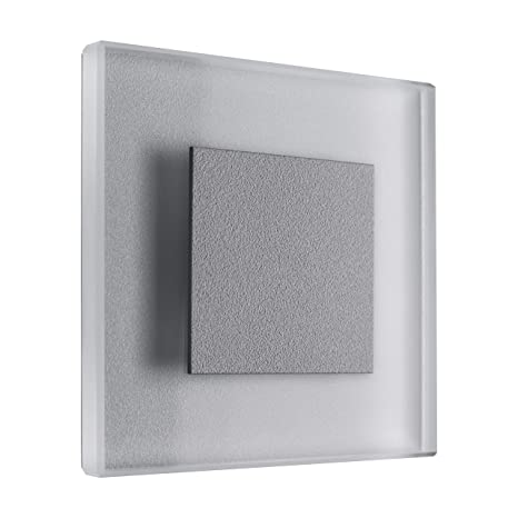 3W LED Wandeinbauleuchte Treppen Beleuchtung Wand Einbau Leuchte Stufen Alu weiß