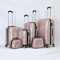 Melife Hardside spinner luggage set of 6pcs with 3 digit number Lock