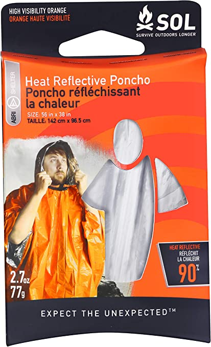 S.O.L Survive Outdoors Longer 90/% chaleur réflective couverture d/'urgence