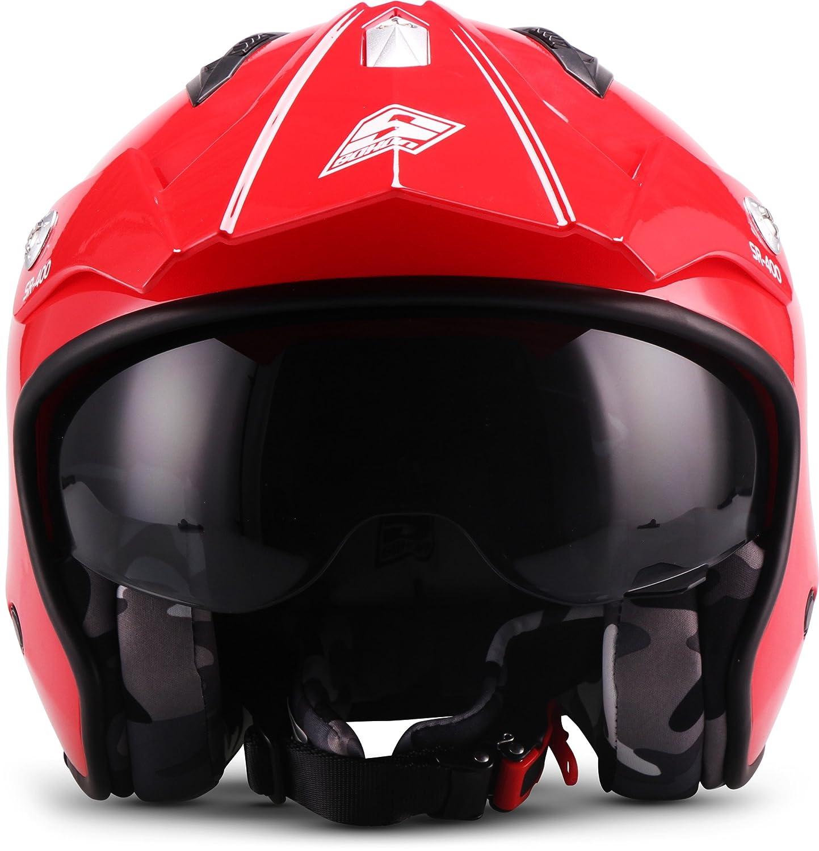 SOXON Casque de moto Rouge Taille XS 53-54 cm