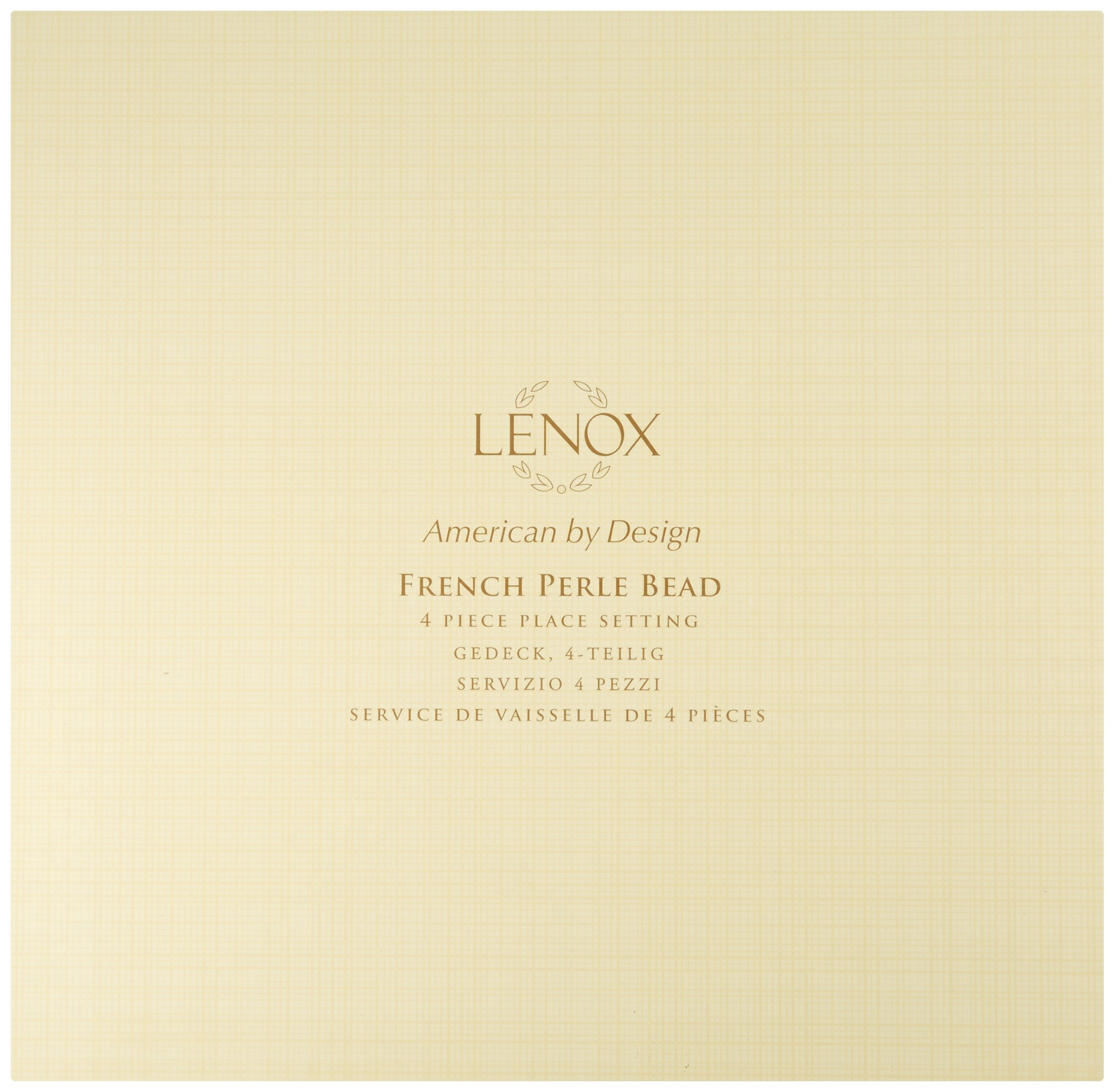 Lenox 4-Piece French Perle Bead Dinner Set, White by Lenox (Image #2)