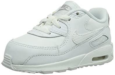 the latest b745d c8987 Nike Toddlers Air Max 90 (TD) White Wolf Grey Running Shoe 2 Infants