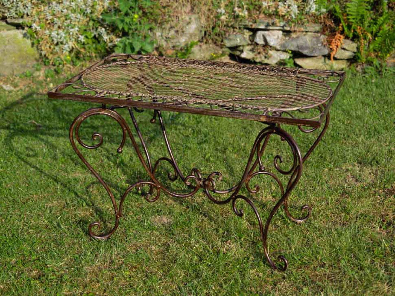 Nostalgie Gartentisch Schmiedeeisen 12kg Tisch Loungetisch Antik