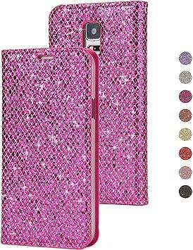 BoRan Funda para Galaxy S5 Bling Carcasa, Libro con Tapa Glitter Billetera Case Flip de PU Cuero con Soporte Plegable/Ranuras Tarjetas/Cierre Magnético Compatible for Samsung Galaxy S5: Amazon.es: Electrónica