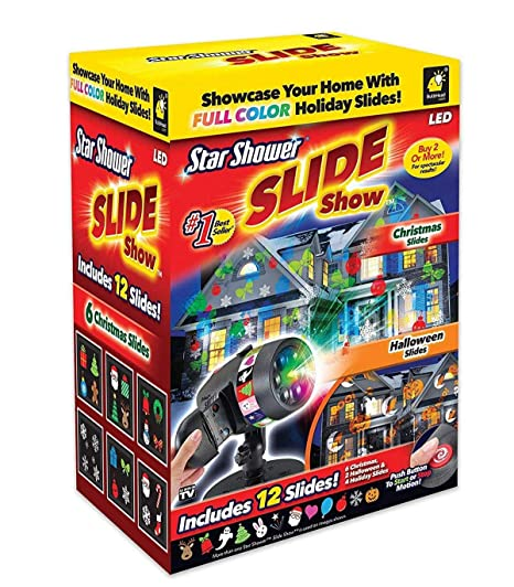 amazon com star shower new 2017 slide show by includes 12 full