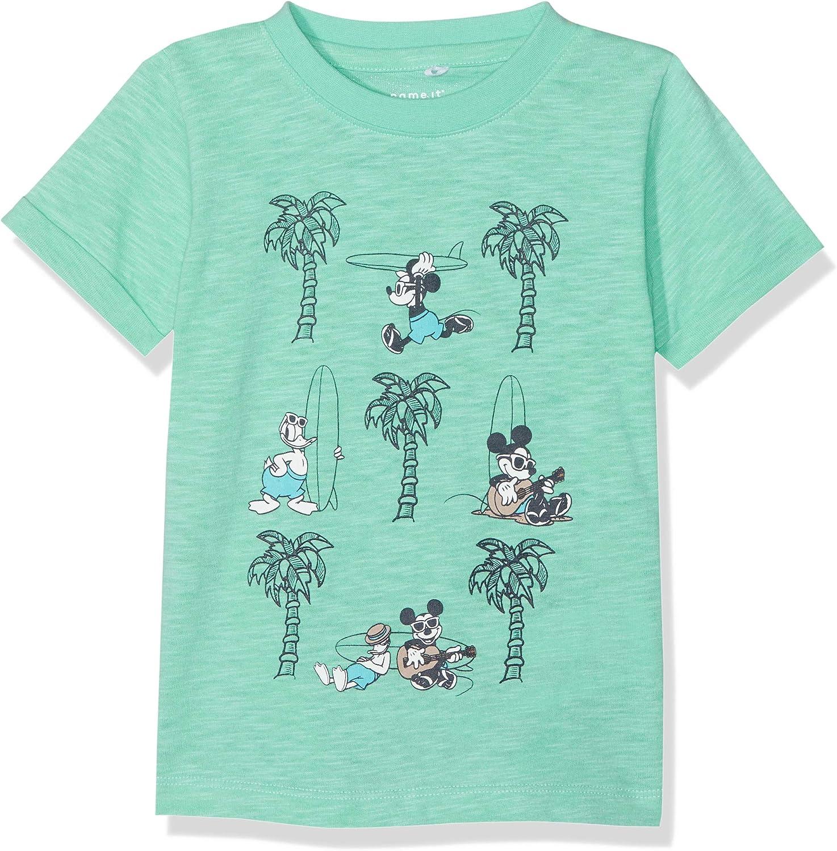 NAME IT Baby-Jungen Nmmmickey Caspian Ss Top Wdi T-Shirt