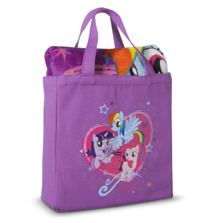 my little pony throw blanket with canvas tote set amazon co uk