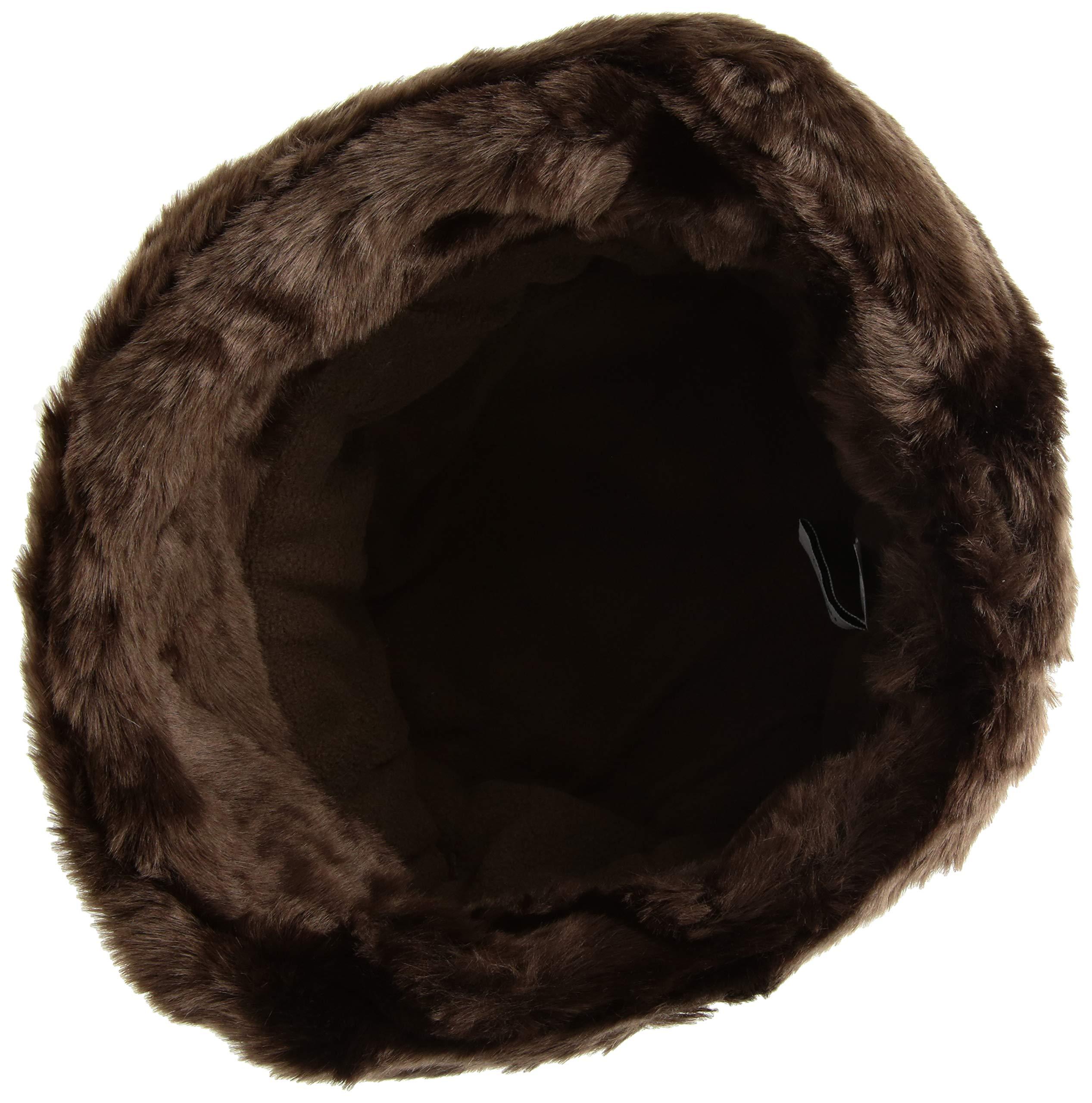 Nine West Women's Faux Fur Cuff Cloche, Brown one Size by Nine West (Image #3)