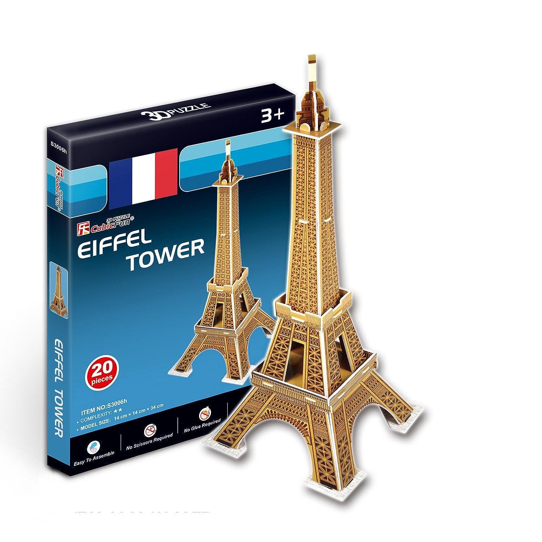 お気に入り CubicFun 3D パズル Sシリーズ 「パリのエッフェル塔 3D - - Sシリーズ ミニチュア」 B005FNWIKM, 南信堂:12694266 --- quiltersinfo.yarnslave.com