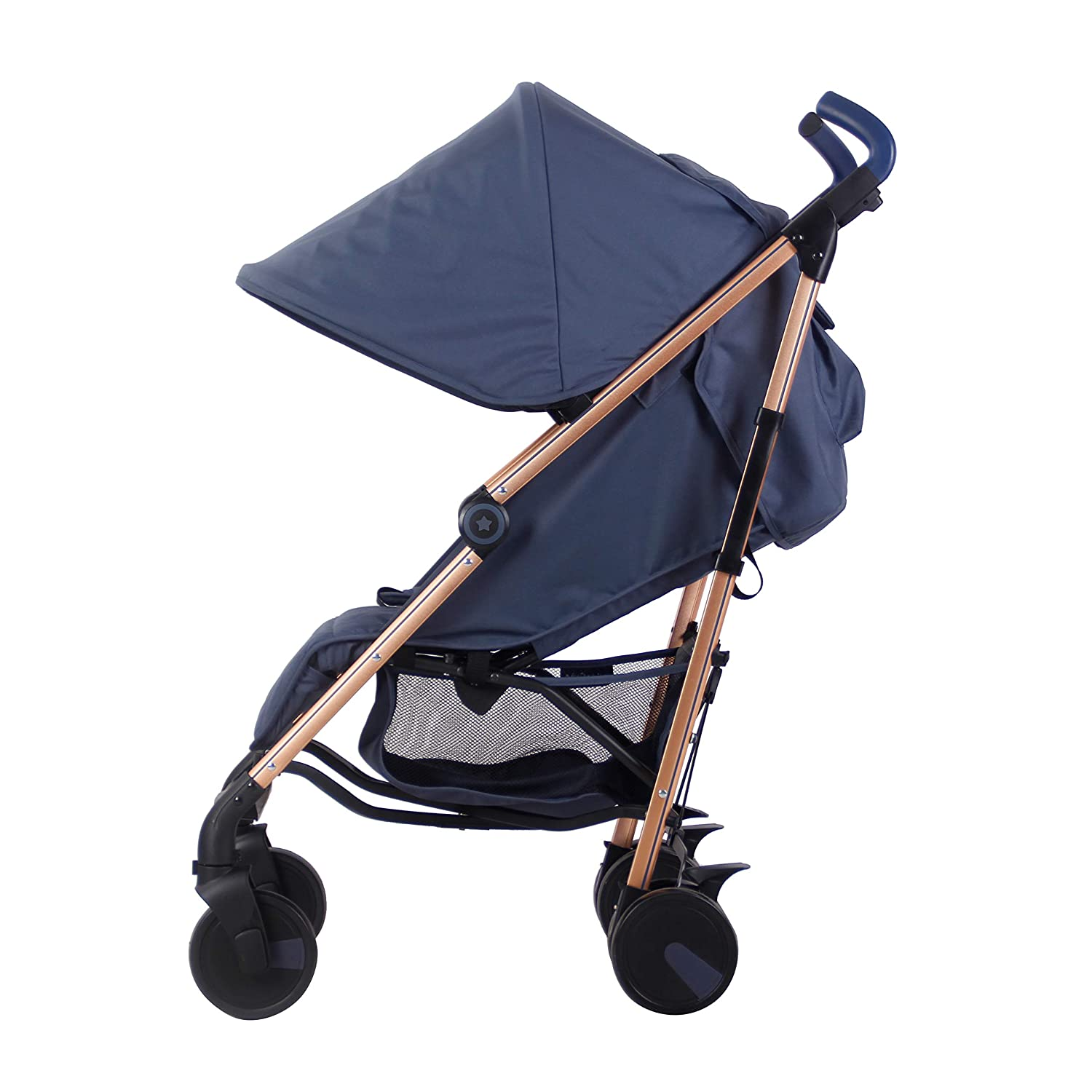 My Babiie Rose Gold and Navy Baby Stroller - Lightweight ...