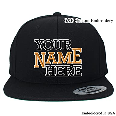 bec15feef63 Yupoong Custom Hat. 6089M Snapback. Embroidered. Place Your Own Text or  Company Name