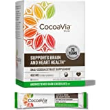CocoaVia Heart and Brain Supplement, Unsweetened Dark Chocolate Drink Mix, 450 mg of Cocoa Flavanols to Support Heart Health,