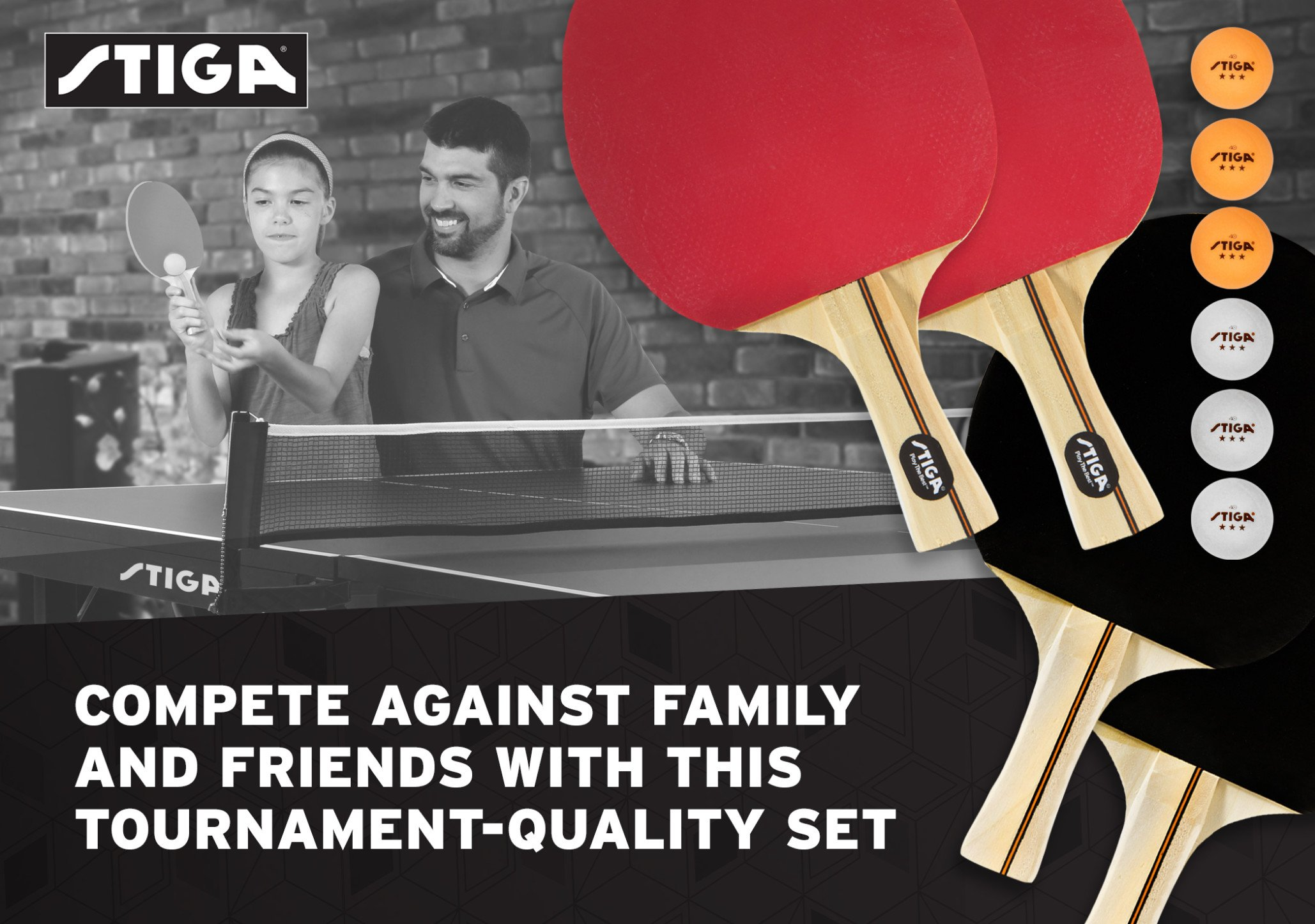 STIGA Performance 4-Player Table Tennis Racket Set with Inverted Rubber for Increased Ball Control and Added Spin by STIGA (Image #7)