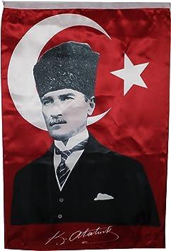 Aprom-Sports Atatürk Imza - Bandera de Turquía: Amazon.es: Deportes y aire libre