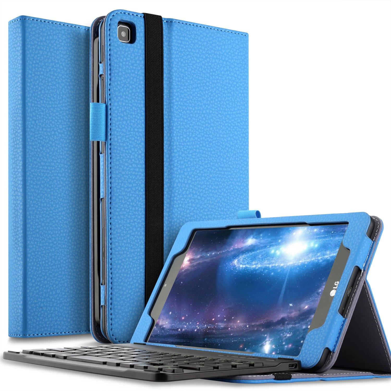 IVSO LG G Pad 8.0 F2 Sprint (lk460) funda para tablet con teclado - teclado Bluetooth desmontable parte delantera caballete lateral funda para LG GPAD F2 ...